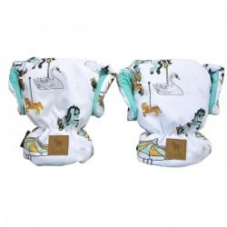 Waterproof Muff/Gloves Aqua Funfair Velvet