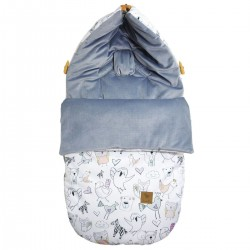 Stroller Bag S/M (0-1 year) Grey Tender Friends Velvet