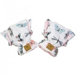 Waterproof Muff/Gloves Pink Wings Velvet