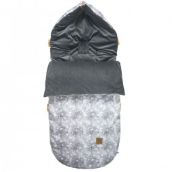 Stroller Bag Dark Grey Goodnight Velvet L/XL (1-3 years)