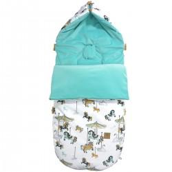 Stroller Bag Aqua Funfair Velvet L/XL (1-3 years)