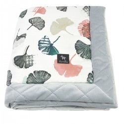 Newborn Blanket 60x70cm Light Grey Biloba - Velvet