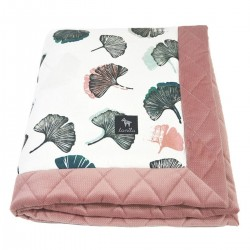 Newborn Blanket 60x70cm Dusty Rose Biloba - Velvet