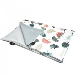 Kocyk Letni Light Grey Biloba 60x70cm - Velvet