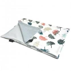 Newborn Blanket Light 60x70 Light Grey Biloba - Velvet