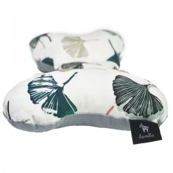 Shock-Absorbent Pillow Light Grey Biloba- Velvet