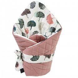 Cone Coverlet Dusty Rose Biloba - Velvet