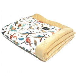 Newborn Blanket 60x70cm Banana Birdies - Velvet