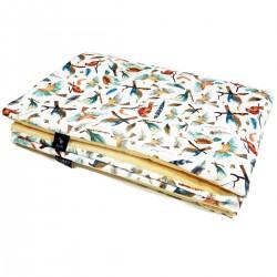 Medium Blanket 75x100cm Banana Birdies - Velvet