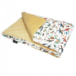 Preschooler Blanket 100x130cm Banana Birdies - Velvet