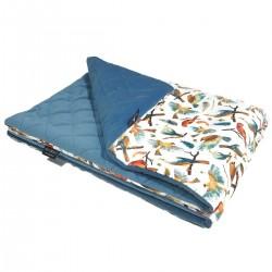 Medium Blanket 75x100cm Blue Birdies - Velvet