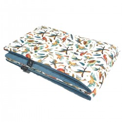 Preschooler Blanket 100x130cm Blue Birdies - Velvet