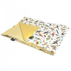 Newborn Blanket Light 60x70 Banana Birdies - Velvet