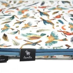 Kocyk Letni Blue Birdies 60x70cm - Velvet