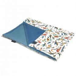 Newborn Blanket Light 60x70 Blue Birdies - Velvet