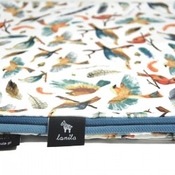 Medium Blanket Light 75x100cm Blue Birdies - Velvet