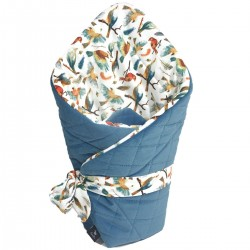 Cone Coverlet Blue Birdies - Velvet