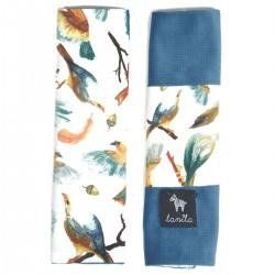 Seatbelt Cover Blue Birdies - Velvet
