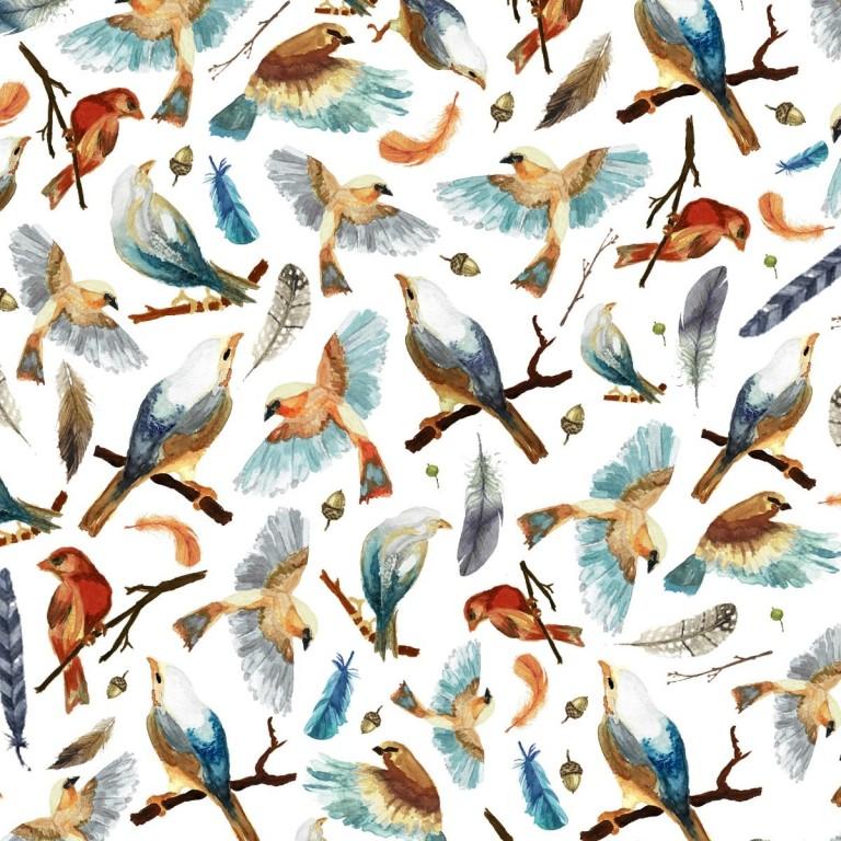 Prześcieradło Birdies 60x120cm