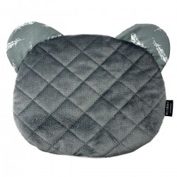 Teddy Pillow Dark Grey Feathers - Velvet