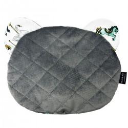 Teddy Pillow Dark Grey Funfair - Velvet