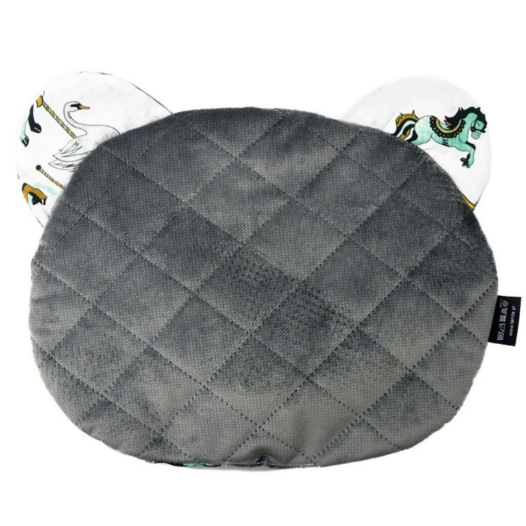 Poduszka Miś - Velvet Dark Grey Funfair