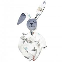 Snuggle Baby Rabbit 100% Bamboo Grey Wings