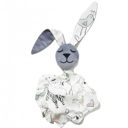Snuggle Baby Rabbit 100% Bamboo Grey Tender Friends