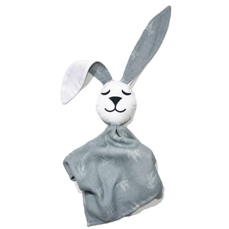 Pieluszka Pan Muślin White Grey Lanila