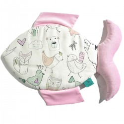 Fish 100% Bamboo Pillow Velvet Pink Tender Friends