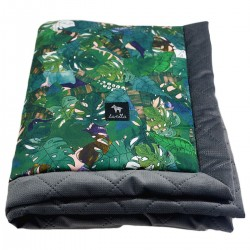 Kocyk Velvet 60x70 Dark Grey Rainforest
