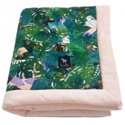 Newborn Blanket 60x70cm Peach Rainforest - Velvet