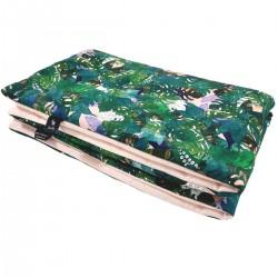 Preschooler Blanket 100x130cm Peach Rainforest- Velvet