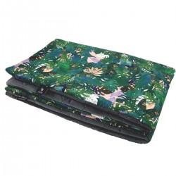 Preschooler Blanket 100x130cm Dark Grey Rainforest- Velvet