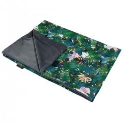 Newborn Blanket Light 60x70 Dark Grey Rainforest- Velvet