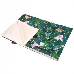 Newborn Blanket Light 60x70 Peach Rainforest- Velvet