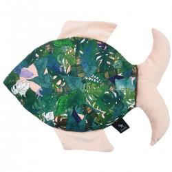 Fish Pillow Peach Rainforest - Velvet
