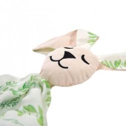 Snuggle Baby Rabbit 100% Bamboo Peach Springflakes