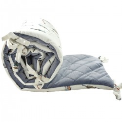 Ochraniacz do łóżeczka 60x120cm - Grey Pure