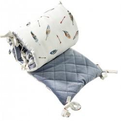 Bed Bumper 60x120cm - Grey Pure