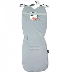 Stroller Pad Light Grey Biloba - Velvet