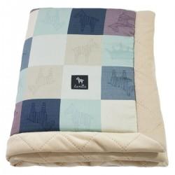 Newborn Blanket 60x70cm Latte Queen Zebra - Velvet