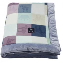 Newborn Blanket 60x70cm Grey Queen Zebra - Velvet