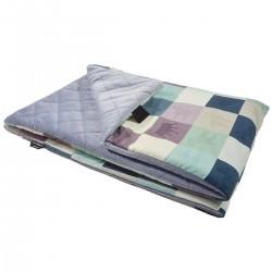 Preschooler Blanket 100x130cm Grey Queen Zebra- Velvet