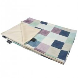 Newborn Blanket Light 60x70 Latte Queen Zebra - Velvet