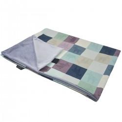 Medium Blanket Light 75x100cm Grey Queen Zebra - Velvet