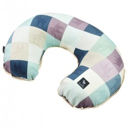 Breastfeeding Pillow Latte Queen Zebra - Velvet