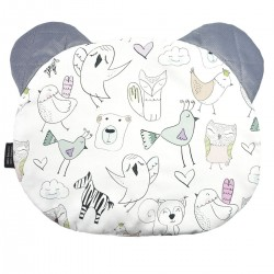 Teddy Pillow Grey Tender Friends - Velvet