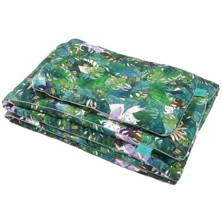Bambusowa Pościel z Wypełnieniem Grey Rainforest 75x100