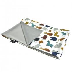 Medium Blanket Light 75x100cm Silver In the Zoo - Velvet